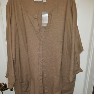 Chico's dolman duster NWT size 3